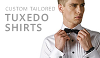 tailor made mens tuxedo shirts and formal shirts