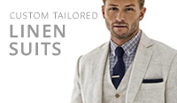 tailor made mens linen suits